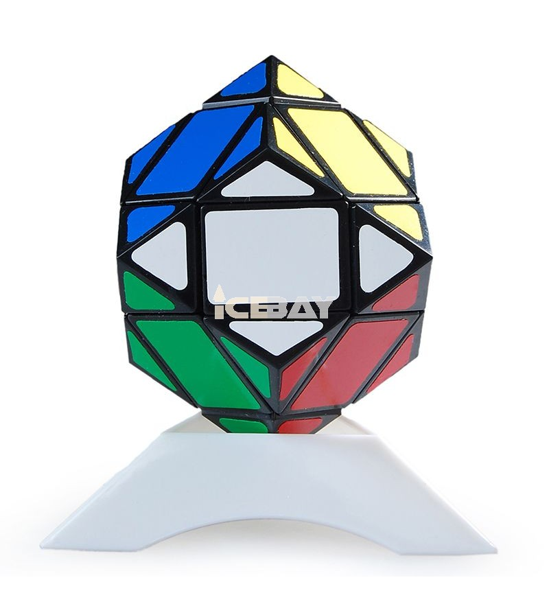 Lanlan Magic Cube 3x3 Diamond Puzzle Black