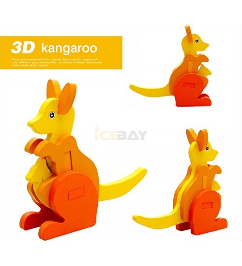 3-D Wooden Puzzle Affordable Gift for your Little One!(kangaroo)