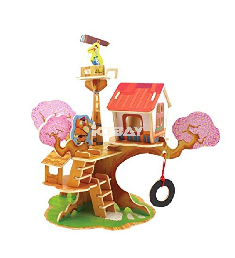ThinkMax Craft Puzzle observatory house DIY 3D Wooden Blocks