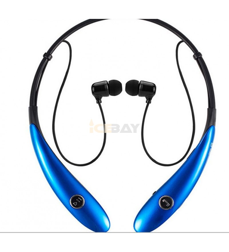 Eastvita Wireless Stereo Bluetooth Neckband Hands-Free Headsets Headphones for Smartphones and Tablets - Black
