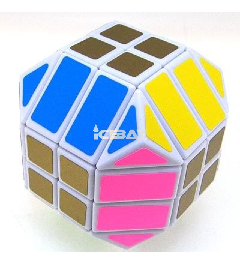 LanLan 4x4 Dodecahedron Magic Cube White