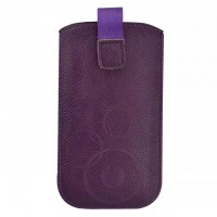 Eastvita PU Leather Litchi grain Pull Premium Tab Pouch Bag Case Cover For Apple iPhone 5 Color:Purple