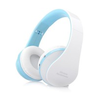 Eastvita Foldable Wireless Bluetooth Stereo Headset Handsfree Headphones For iPhone color:blue
