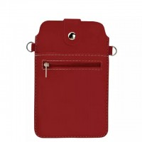 Eastvita Fashion Black PU Leather Case Shoulder Cross-body Bag Pouch for iPhone 6 Plus Red