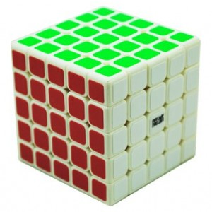 YJ Moyu Aochuang 5x5x5 Speed Cube Puzzle, White