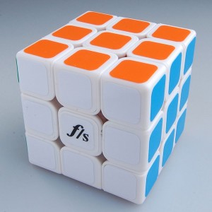 Fangshi Shuangren 54.6mm Magic Cube White