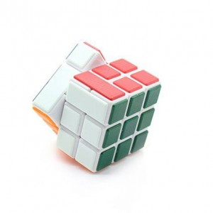 Cube Twist 3x3x3 Bandaged Brain Teaser Magic Cube White