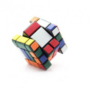 Cube Twist 3x3x4 Bandaged Brain Teaser Magic Cube Black