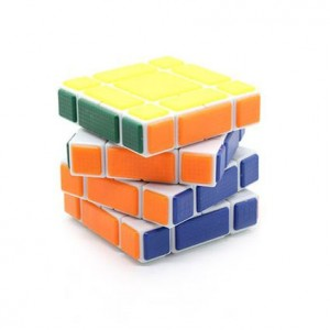 Cube Twist 3x3x4 Bandaged Brain Teaser Magic Cube White