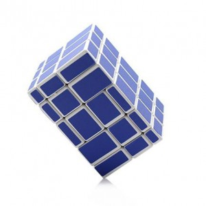 Cube Twist 5x3x3 Irregular Puzzle Speed Cube Blue White