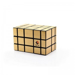 Cube Twist 5x3x3 Irregular Mirror Puzzle Speed Cube Gold Black