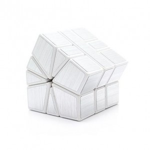 Cube Twist Square-1 Magic Puzzle Speed Cube Silver White