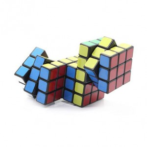Cube Twist Triple Conjoined 3x3x3 Puzzle Speed Cube Black
