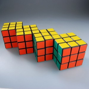 Cube Twist Tetrad Conjoined 3x3x3 Puzzle Speed Cube Black