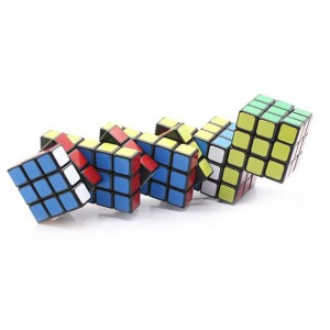 Cube Twist Pentad Conjointed 3x3x3 Puzzle Speed Cube Black