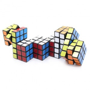 Cube Twist Hexad Conjoined 3x3x3 Puzzle Speed Cube Black