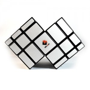 CT Cubetwist Double Mirror 3x3x3 Bump Cube Puzzle, Silver and Black
