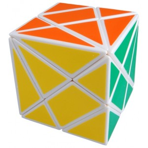 Diansheng Axis Fluctuation Angle Shape Mode Cube Puzzle, White