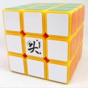 Dayan Zhanchi 3x3x3 42mm Magic Cube Puzzle, Yellow