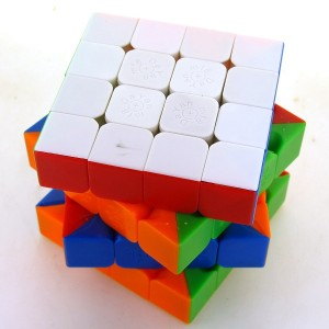 DaYan+MF8 4X4X4 66mm V2 Speed Cube Puzzle, Stickerless