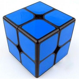 Funs cube 2x2 50mm Shishuang black with blue tiles