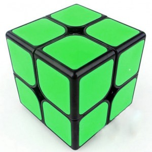 Funs cube 2x2 50mm Shishuang black with green tiles