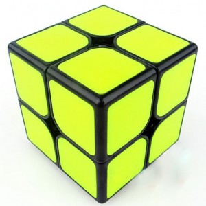 Funs cube 2x2 50mm Shishuang black with yellow tiles
