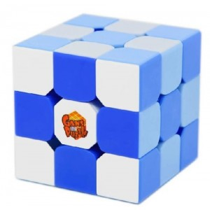Gan III 3x3x3 Speed Cube Puzzle, Stickerless with Gradient Blue