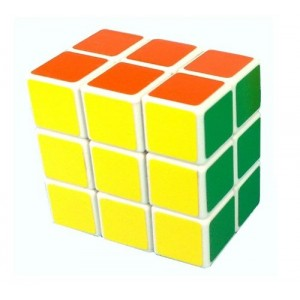 LanLan 3x3x2 Square Speed Cube Puzzle, Brain Teaser White
