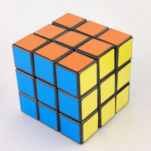 Lanlan 3X3 Sticker Speed Cube Black
