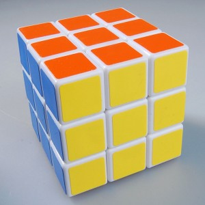 Lanlan 3X3 Sticker Speed Cube White