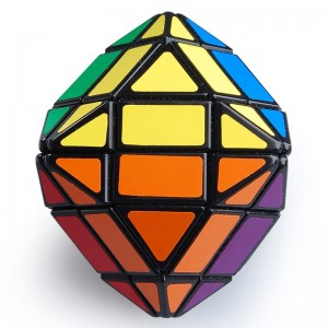 LanLan 4-Layer Rhombic Dodecahedron Magic Cube Puzzle Game - Black Line