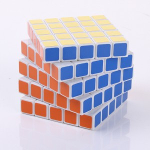 LanLan 5x5x5 65mm Speed Cube Puzzle, White