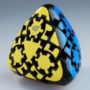 Lanlan 4-Colored Pillow Shaped Gear Mastermorphix Magic Puzzle Cube With Black Edge