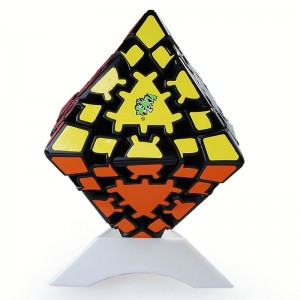 Lanlan Gear Magic Cube Octahedral Puzzle Cube Octahedral Gear Black
