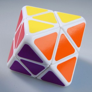 Lanlan 2-Layer Octahedral Skewb Diamond Magic Cube White