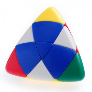 Lanlan Color I 4-color Pillow Shape Master Pyramorphix Puzzle Speed Cube White