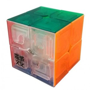 YJ Moyu Lingpo 2x2x2 Speed Cube Puzzle, Transparent