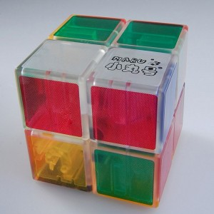 Maru 2x2 XWH Spring/Screw Magic Cube Transparent