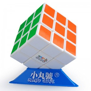 Maru 3x3x3 XWH ShenLan Magic Cube Glow In The Dark - white