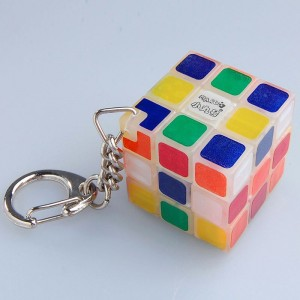 Maru 3x3x3 Luminous Transparent Magic Cube Keychain
