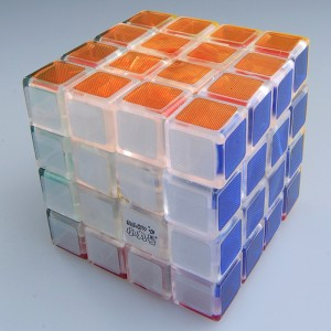 Maru 4x4x4 Shenlan Version 2 Speed Cube Puzzle, Transparent