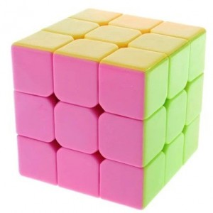 YJ Moyu Yulong 3x3x3 57mm Magic Cube Stickerless Pink
