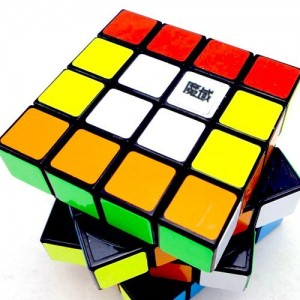 YJ Moyu Weilong 4x4x4 62mm Speed Cube Black