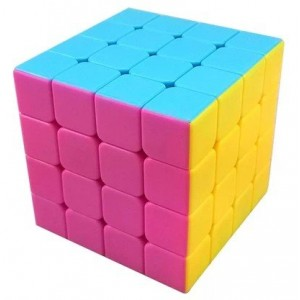 YJ Moyu Aosu 4x4x4 Speed Cube Puzzle, Candy Color