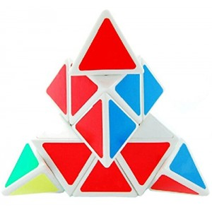 YJ Moyu Pyraminx Speed Cube White