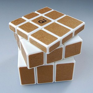 QJ Mirror Speed Puzzle, Cube Golden and White