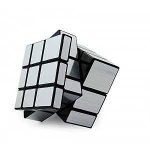QJ Mirror Speed Puzzle, Cube Silver and Black
