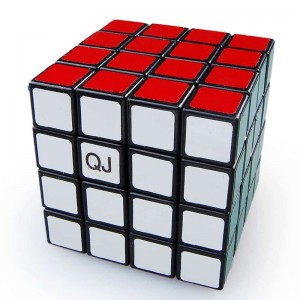 QJ 4x4 Mini Puzzle Cube Black 6cm