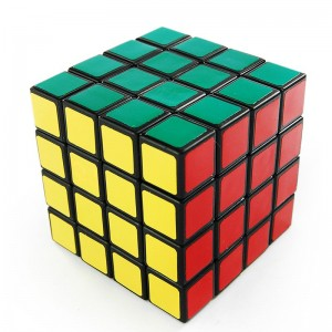 QJ 4x4 Speed Cube 6.6cm Black